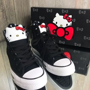 Converse & Hello Kitty Ctas HI Black W AUTHENTIC